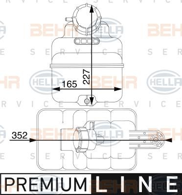 Vase d'expansion HELLA 8MA 376 705-271 (X1)