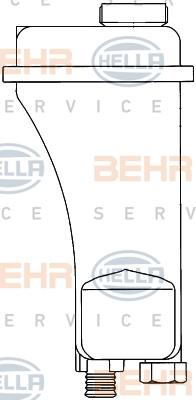 Vase d'expansion HELLA 8MA 376 705-401 (X1)