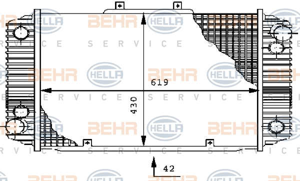 Radiateur de refroidissement HELLA 8MK 376 710-731 (X1)