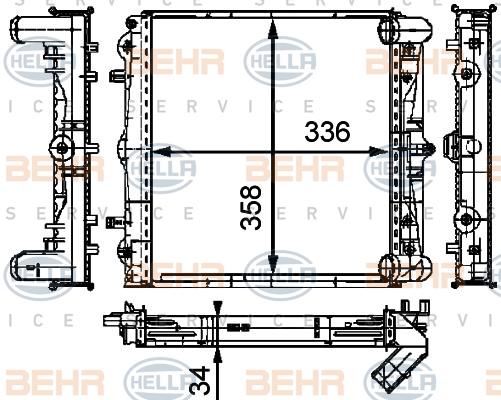Radiateur de refroidissement HELLA 8MK 376 714-294 (X1)