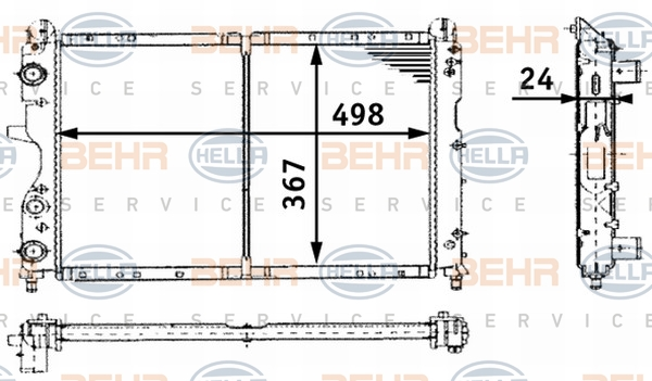 Radiateur de refroidissement HELLA 8MK 376 716-171 (X1)