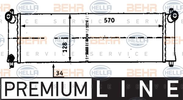 Radiateur de refroidissement HELLA 8MK 376 716-651 (X1)