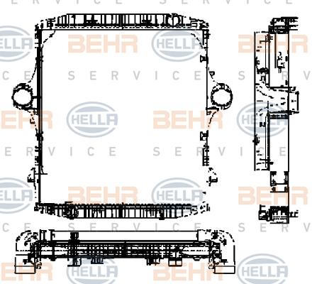 Module de refroidissement HELLA 8MK 376 721-561 (X1)