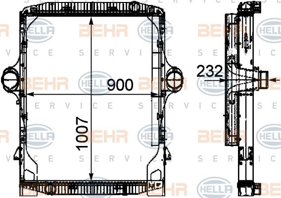 Module de refroidissement HELLA 8MK 376 722-161 (X1)