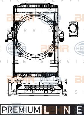 Module de refroidissement HELLA 8MK 376 722-211 (X1)