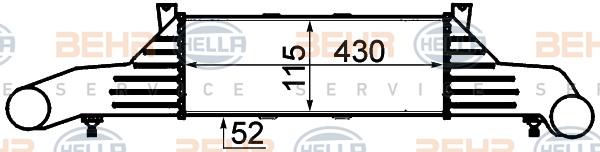 Intercooler radiateur de turbo HELLA 8ML 376 723-031 (X1)