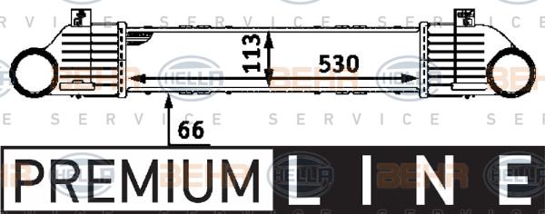 Intercooler radiateur de turbo HELLA 8ML 376 723-041 (X1)