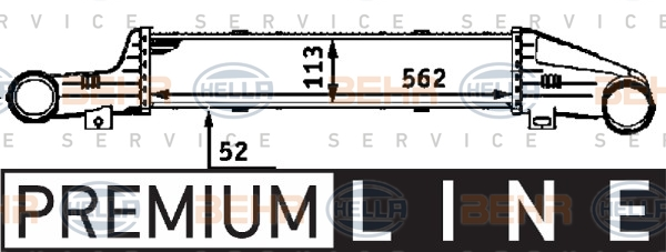 Intercooler radiateur de turbo HELLA 8ML 376 723-141 (X1)