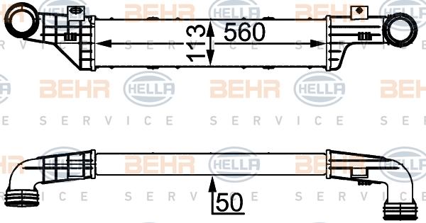 Intercooler radiateur de turbo HELLA 8ML 376 723-144 (X1)