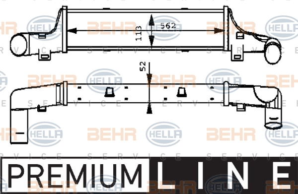 Intercooler radiateur de turbo HELLA 8ML 376 723-151 (X1)