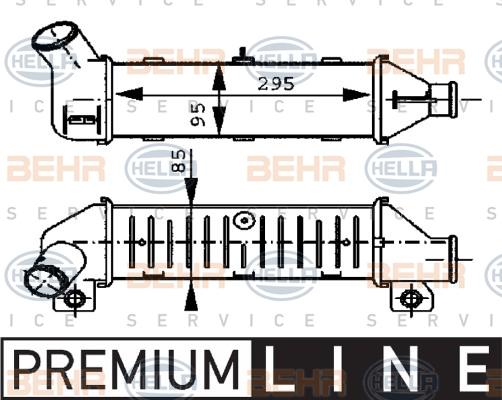 Intercooler radiateur de turbo HELLA 8ML 376 723-251 (X1)