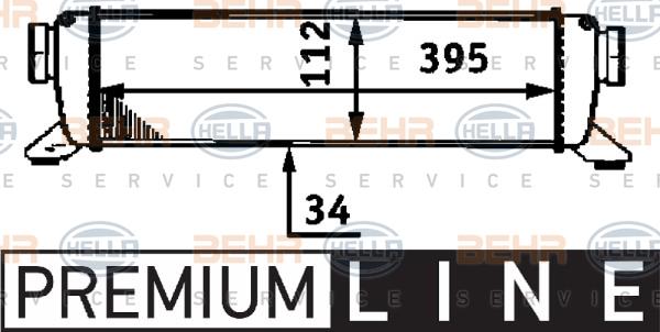 Intercooler radiateur de turbo HELLA 8ML 376 723-311 (X1)