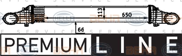 Intercooler radiateur de turbo HELLA 8ML 376 723-391 (X1)
