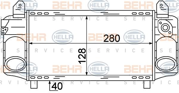 Intercooler radiateur de turbo HELLA 8ML 376 723-421 (X1)