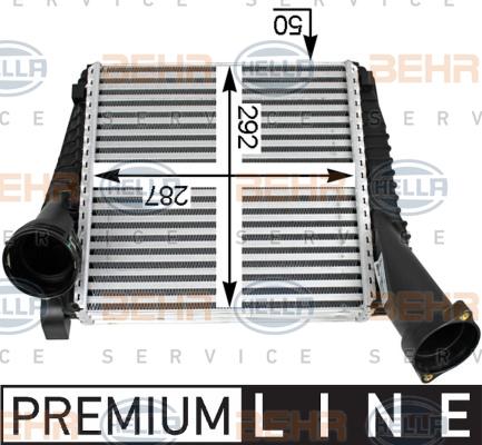 Intercooler radiateur de turbo HELLA 8ML 376 723-471 (X1)