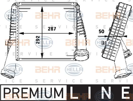 Intercooler radiateur de turbo HELLA 8ML 376 723-481 (X1)