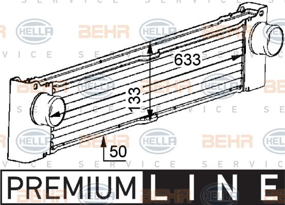Intercooler radiateur de turbo HELLA 8ML 376 723-521 (X1)