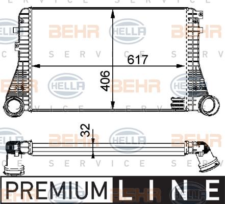 Intercooler radiateur de turbo HELLA 8ML 376 723-541 (X1)