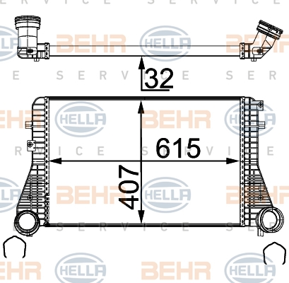 Intercooler radiateur de turbo HELLA 8ML 376 723-544 (X1)