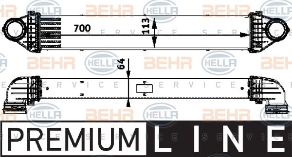 Intercooler radiateur de turbo HELLA 8ML 376 723-551 (X1)