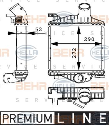 Intercooler radiateur de turbo HELLA 8ML 376 723-701 (X1)