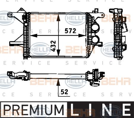 Intercooler radiateur de turbo HELLA 8ML 376 723-781 (X1)