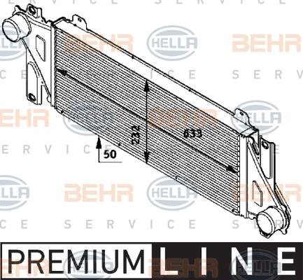 Intercooler radiateur de turbo HELLA 8ML 376 724-291 (X1)