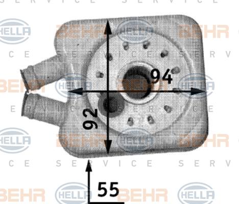 Radiateur huile HELLA 8MO 376 726-221 (X1)