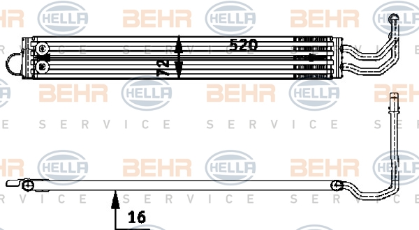 Radiateur de direction HELLA 8MO 376 726-341 (X1)