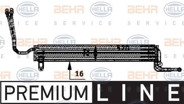 Radiateur de direction HELLA 8MO 376 726-361 (X1)