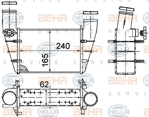 Intercooler radiateur de turbo HELLA 8ML 376 727-581 (X1)