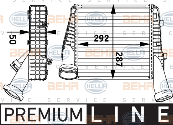 Intercooler radiateur de turbo HELLA 8ML 376 729-561 (X1)