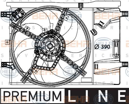 Ventilateur de condenseur HELLA 8EW 376 729-651 (X1)