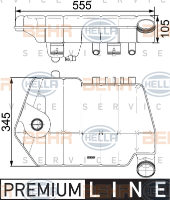Vase d'expansion HELLA 8MA 376 731-621 (X1)