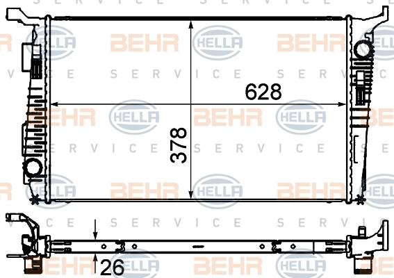 Radiateur de refroidissement HELLA 8MK 376 735-181 (X1)