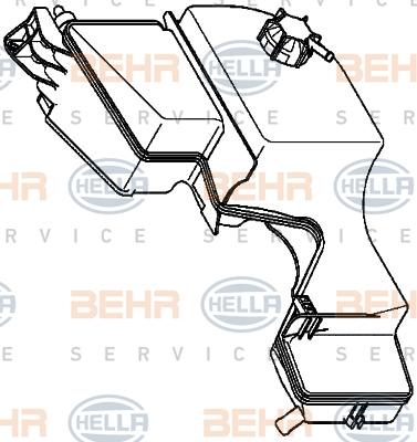 Vase d'expansion HELLA 8MA 376 737-011 (X1)