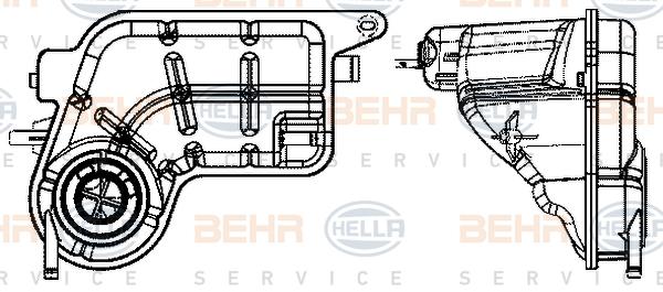 Vase d'expansion HELLA 8MA 376 737-144 (X1)