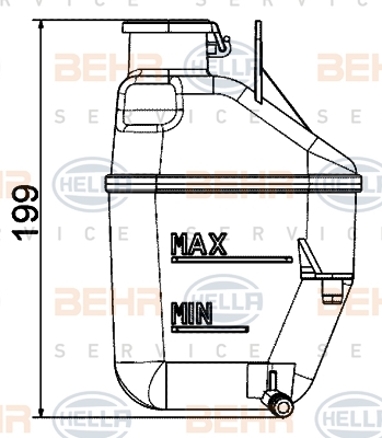 Vase d'expansion HELLA 8MA 376 737-234 (X1)