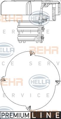 Bouchon, reservoir de liquide de refroidissement HELLA 8MY 376 743-431 (X1)