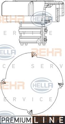 Bouchon, reservoir de liquide de refroidissement HELLA 8MY 376 743-451 (X1)
