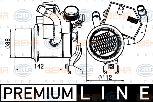 Refroidisseur d'echappement HELLA 8ME 376 745-291 (X1)