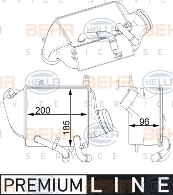 Intercooler radiateur de turbo HELLA 8ML 376 746-001 (X1)