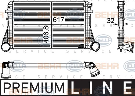 Intercooler radiateur de turbo HELLA 8ML 376 746-061 (X1)