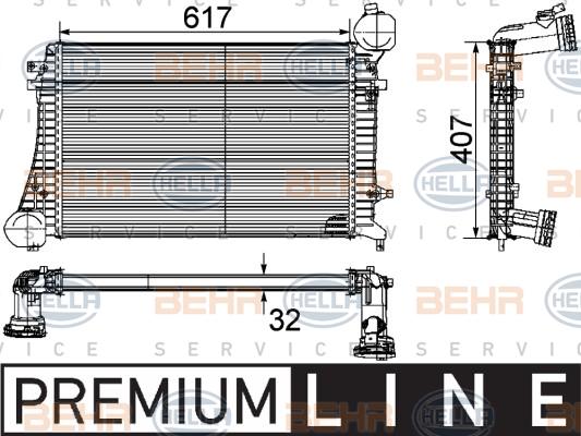Intercooler radiateur de turbo HELLA 8ML 376 746-071 (X1)