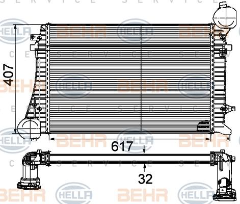 Intercooler radiateur de turbo HELLA 8ML 376 746-131 (X1)