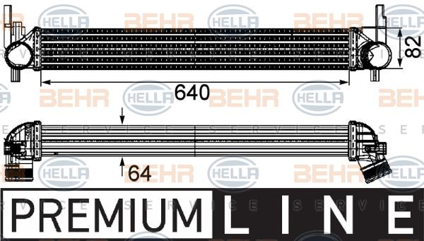 Intercooler radiateur de turbo HELLA 8ML 376 746-141 (X1)