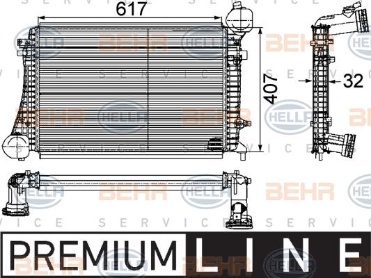 Intercooler radiateur de turbo HELLA 8ML 376 746-151 (X1)