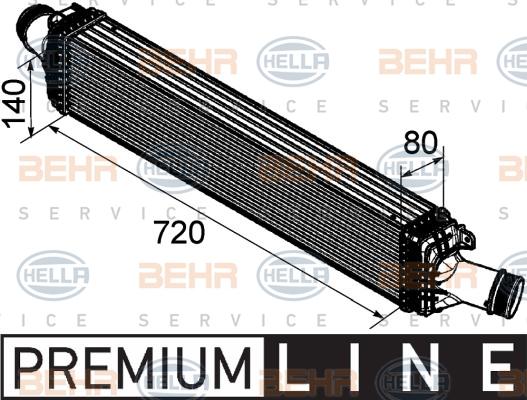 Intercooler radiateur de turbo HELLA 8ML 376 746-181 (X1)