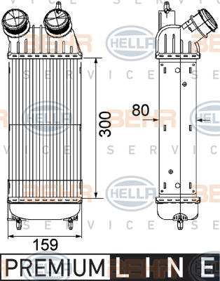 Intercooler radiateur de turbo HELLA 8ML 376 746-211 (X1)