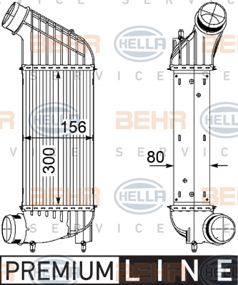 Intercooler radiateur de turbo HELLA 8ML 376 746-361 (X1)